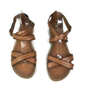 Clarks Womens  Brown Billie Jazz Gladiator Sandals
